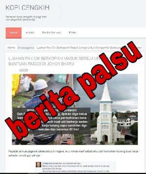 Viral fitnah gereja zakat