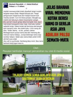 Viral Palsu Kotak Lutsinar Gereja Asia Jaya